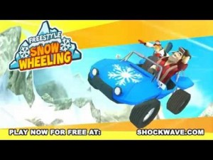 Use tricks in Freestyle Snow Wheeling