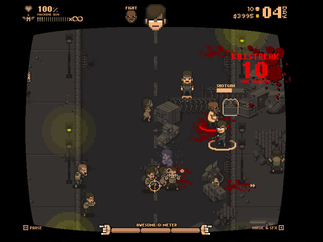 Destroy the living dead in Bitejacker